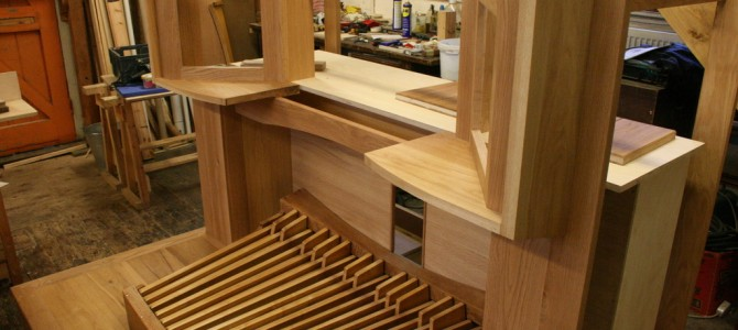 Construction of the new organ console