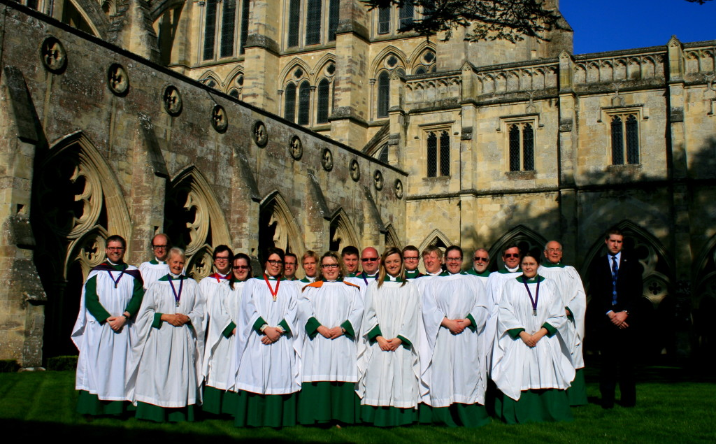 St Stephen's Choir outside Salisbury Cathedral