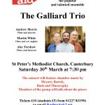 Galliard concert poster March 2019